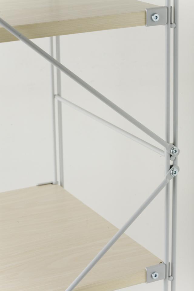 無印良品の「スチールユニットシェルフ・木製棚セット・ワイド大・グレー」-04