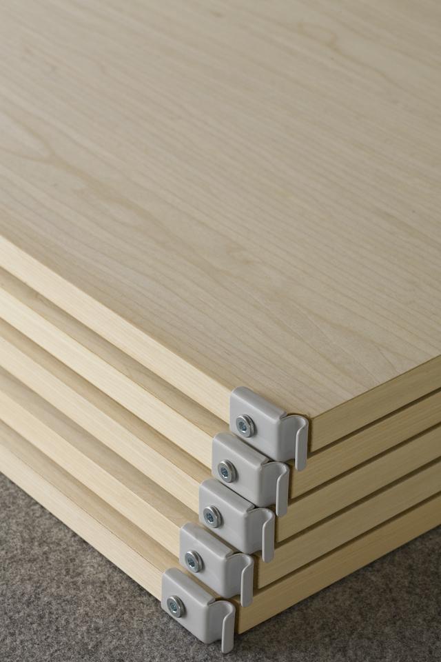 無印良品の「スチールユニットシェルフ・木製棚セット・ワイド大・グレー」-05