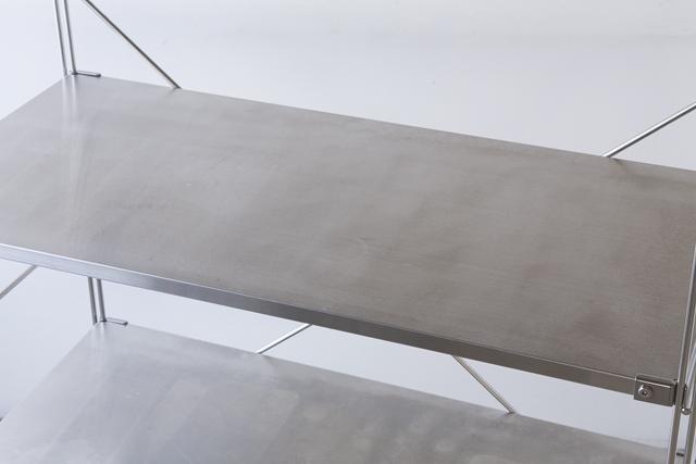 無印良品の「ステンレスユニットシェルフ・ステンレス棚セット・ワイド・中」-05