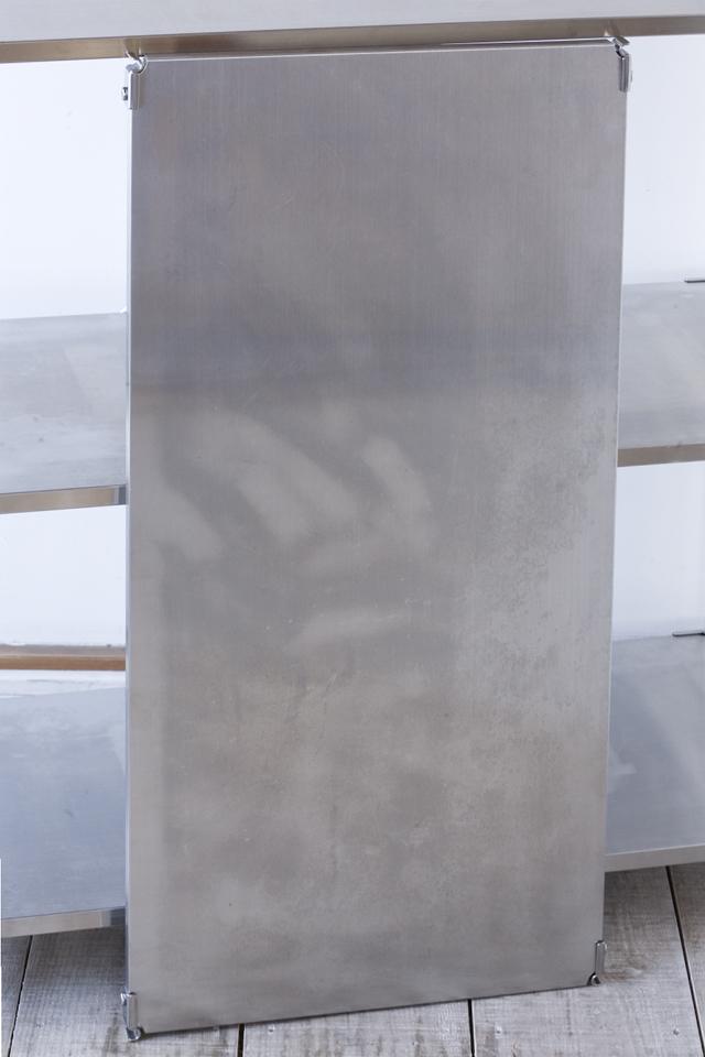 無印良品の「ステンレスユニットシェルフ・ステンレス棚セット・ワイド・中」-06