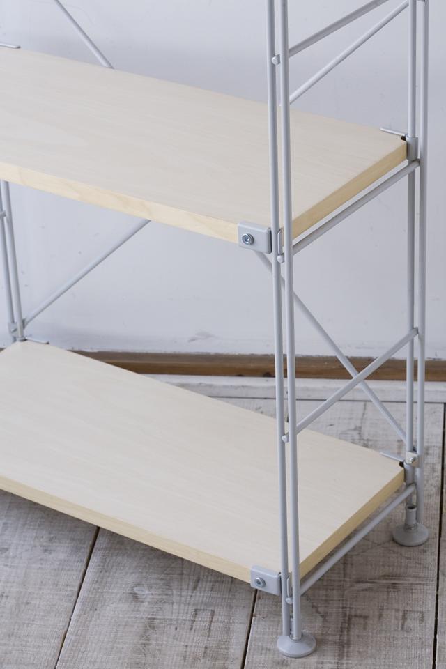 無印良品の「スチールユニットシェルフ奥行き25cmタイプ・木製棚6枚セット・大・グレー」-03