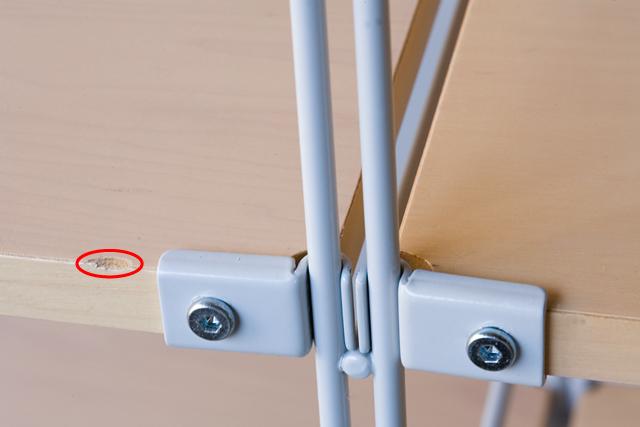無印良品の「スチールユニットシェルフ・木製棚4段セット」-04a