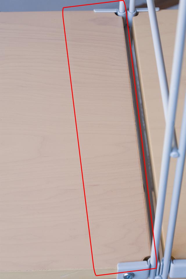 無印良品の「スチールユニットシェルフ・木製棚4段セット」-06a
