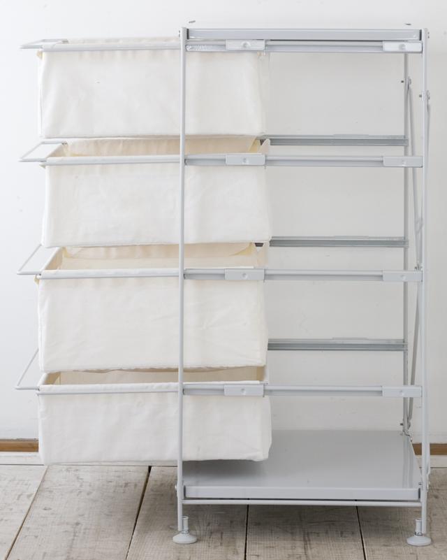 無印良品の「スチールユニットシェルフ帆布バスケットセット・スチール棚板・幅42cmタイプ」-03