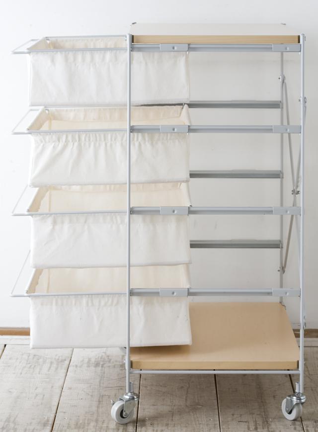 無印良品・スチールユニットシェルフ帆布バスケットセット・木製棚板・幅56cmタイプ-02