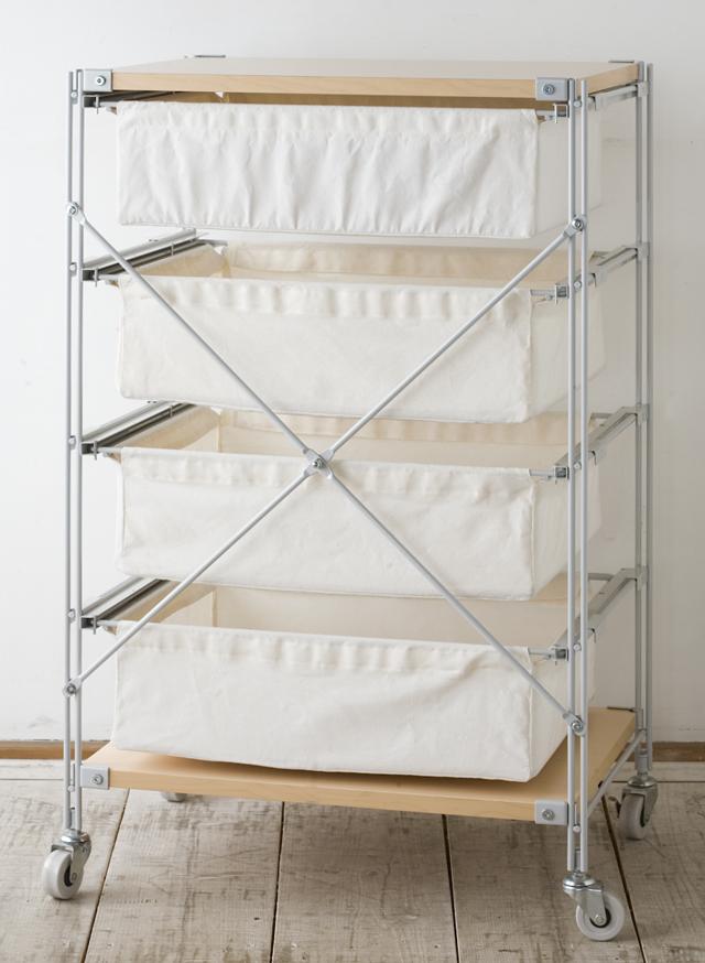 無印良品・スチールユニットシェルフ帆布バスケットセット・木製棚板・幅56cmタイプ-03