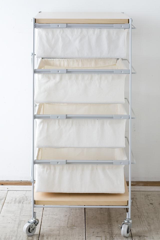 無印良品・スチールユニットシェルフ帆布バスケットセット・木製棚板・幅56cmタイプ-04