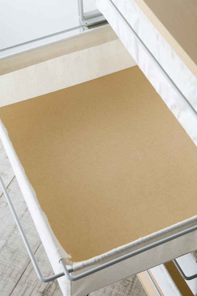 無印良品・スチールユニットシェルフ帆布バスケットセット・木製棚板・幅56cmタイプ-06
