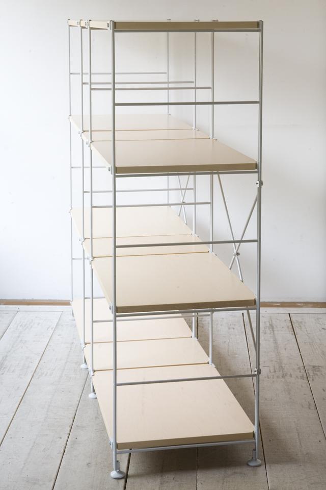 無印良品の「スチールユニットシェルフ・木製棚セット4段」-02