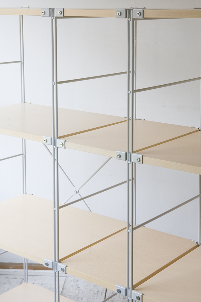 無印良品の「スチールユニットシェルフ・木製棚セット4段」-03