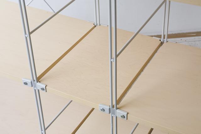 無印良品の「スチールユニットシェルフ・木製棚セット4段」-04