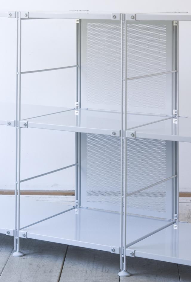 無印良品「スチールユニットシェルフ・グレー棚3段セット」--04