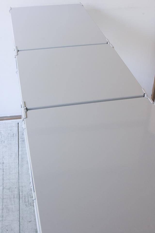 無印良品「スチールユニットシェルフ・グレー棚3段セット」--06