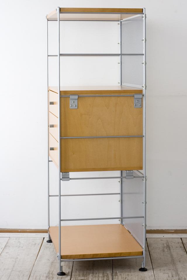 無印良品「スチールユニットシェルフ用・ボックス付セット」-03