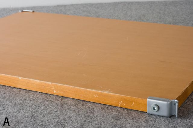 無印良品「スチールユニットシェルフ・メープル棚ワードローブセット」-12a