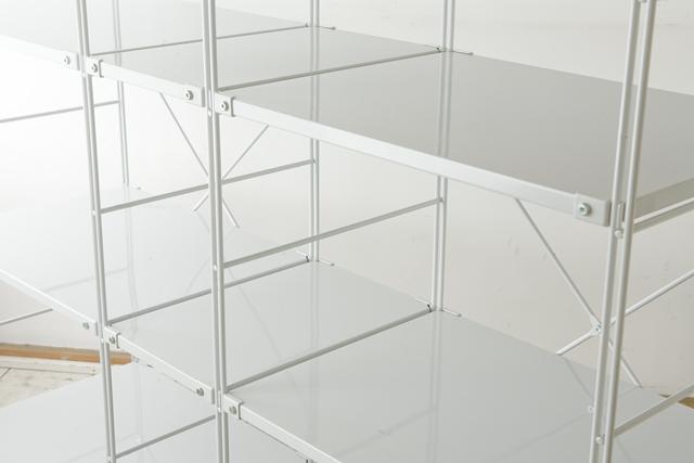 無印良品「スチールユニットシェルフ・グレー棚セット」-03